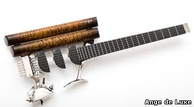 The Rhodium Prodigy Birdfish – yes, that is the name of this stunning, totally unorthodox guitar – has only been crafted five times to date.
