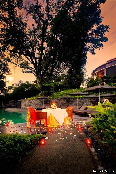 Um romance sob as estrelas para o Dia dos Namorados no Capella Singapore.