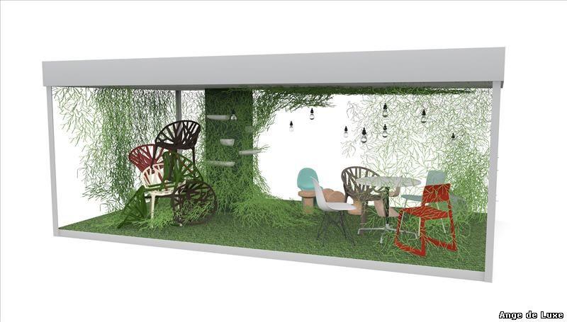 Design Museum, London has partnered with design company Vitra to create a pop-up garden